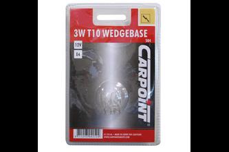 Carpoint Gloeilamp Wedgeb T10 W3W Blister 2st