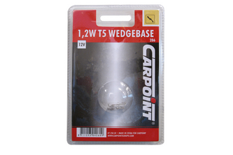 Carpoint Gloeilamp Wedgeb T5 W1,2W  Blister 3