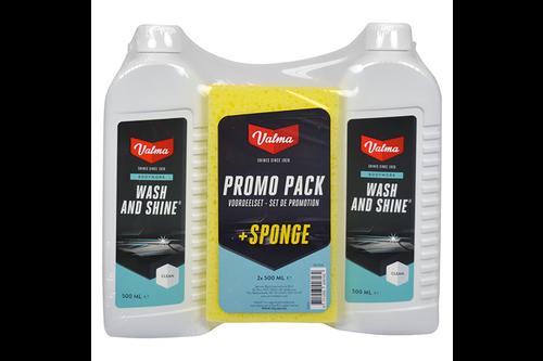 Valma 2x 500ml wash & shine + spons