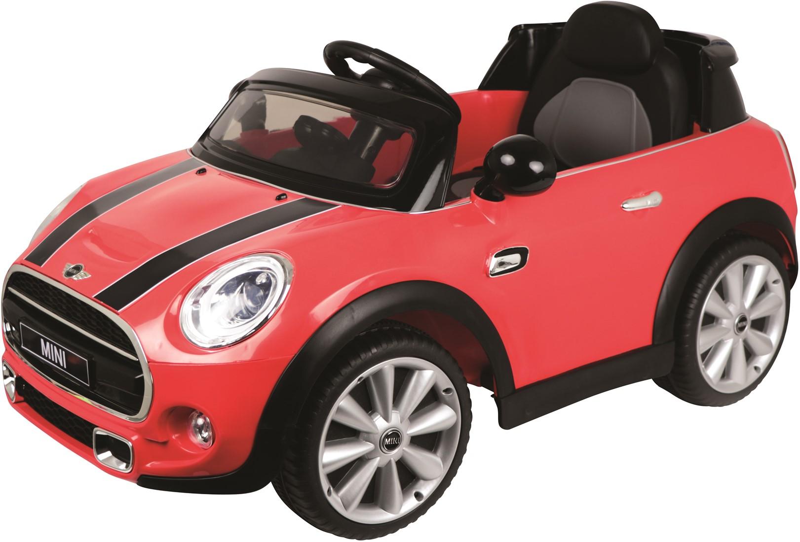 Afbeelding van E car mini cooper rood
