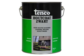 Tenco Houtcoat Zwart 5 LTR,