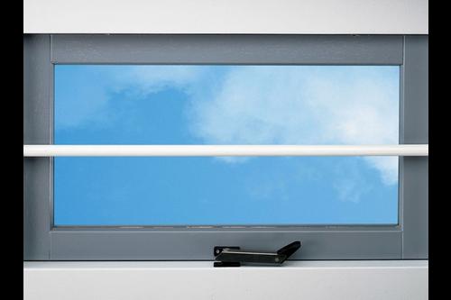 Secubar barrierestang twist wit epoxy  , ral9010 wit epoxy, 99 cm, twist barrière-stang