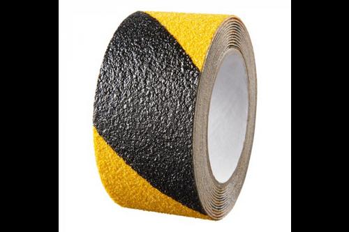 Secucare anti slip sticker heavy duty voor binnen & buiten 1 stuk, zwart/geel