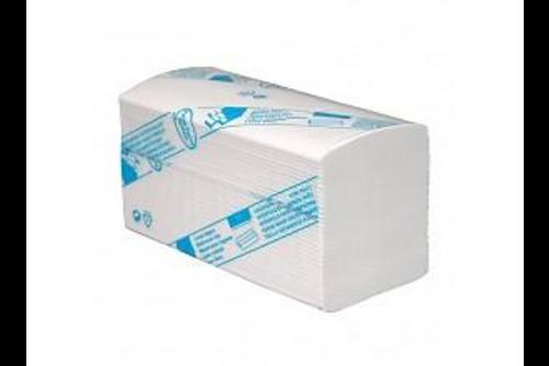 Lucart eco handdoekpapier recycled z-vouw 2-laags 3200 stuks van 25 x 23 cm, wit