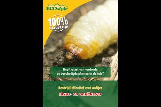 ECOSTYLE Aaltjes H tegen larven taxuskever en larven snuitkever 50 miljoen/100 m2