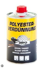 Afbeelding van Airo polyester verdunning 1 l, transparant, blik