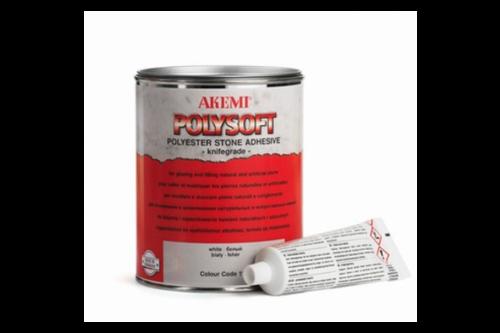 Akemi polysoft steenkit- en steenlijm 1 l, lichtgrijs