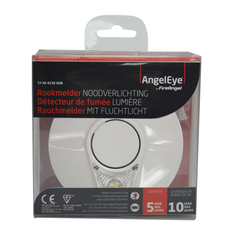 Afbeelding van Angeleye rookmelder met noodverlichting 3v