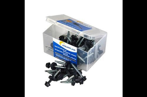 Aquaplan aqua-pan zelfborende schroeven voor aqua-pan 40 stuks, antraciet