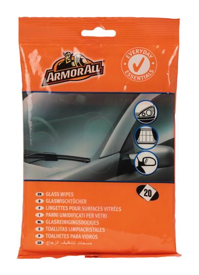 Afbeelding van Armor all essentials glass wipes