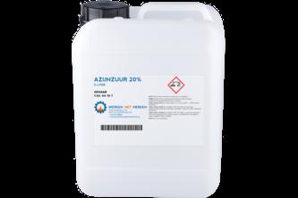 Azijnzuur 20% 5 L, JERRYCAN