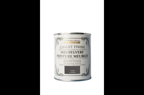 Rust-oleum chalky finish meubelverf 750 ml, grafiet, blik