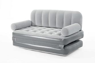 Bestway lounge bank grijs 3-in-1 met pomp