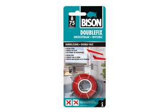 Bison DIY Double Fix Onzichtbaar 1,5 meter x 19 mm, BLISTER