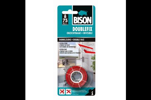 Bison diy double fix onzichtbaar 1,5 meter x 19 mm, blister