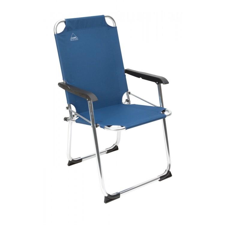 Afbeelding van Camp gear klapstoel 600d blauw aluminium frame