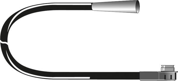 Afbeelding van Carcoustic antenne adapter iso din plug 12v 15cm