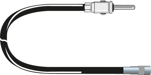 Afbeelding van Carcoustic antenne adapter iso female din 12v 15cm