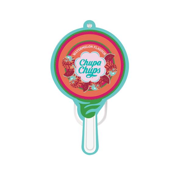 Afbeelding van Chupa chups luchtverfrisser papier watermeloen