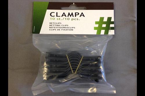 Hwtc clampa bevestigingsclips 3,5x8cm, 10st./verp.