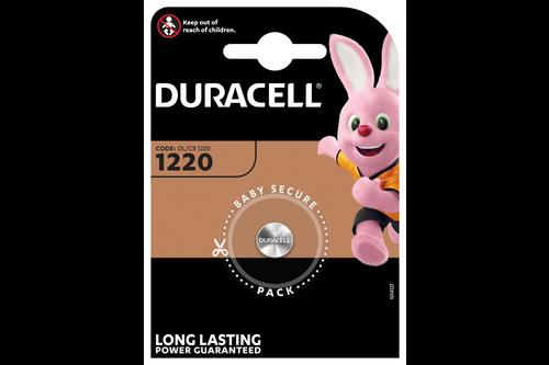 Duracell knoopcelbatterij 1220/cr1220 lithium 3 volt bp1 blister 1 stuk