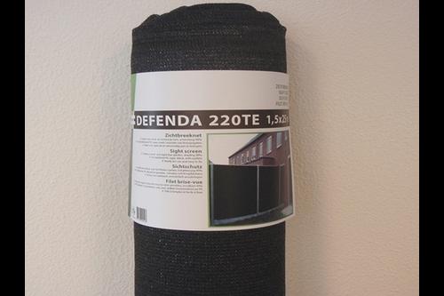 Hwtc defenda 220te zichtbreeknet 1,8x25m,  , 220 gr./m², zwart