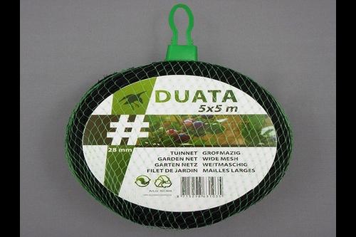 Hwtc duata tuinnet 10x10 m,  , maas 28x28 mm, zwart