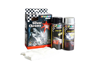 Dupli-Color Silver Chrome set  deco set