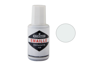 Kingston Emaille Reparatie Tip 20 ML, EDELWEISS, S0603-R80B , Flacon + kwast
