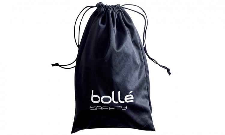 Afbeelding van Boll safety zwart microfiber zakje voor alle types ruimzichtbrillen