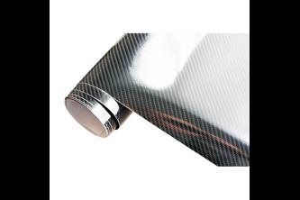 AutoStyle 5D Carbonfolie 152x200cm Glanzend Zwart zelfklevend