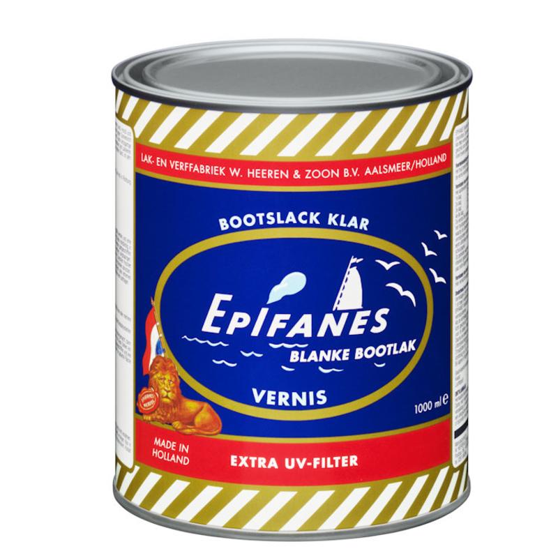 Afbeelding van Epifanes bootlak blank 1 l, transparant amber, blik