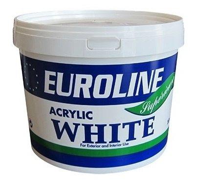 Afbeelding van Euroline latex muurverf interieur en exterieur 10 l, wit