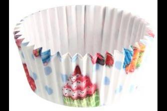 Fackelmann Zenker muffinvormpjes met print veelkleurig 50 stuks