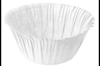 Fackelmann Zenker muffinvormpjes met rand wit 30 stuks