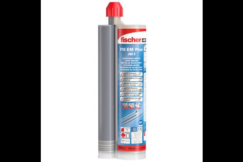 Fischer epoxy injectiemortel fis em plus 390 s 1 koker 390 ml, 2 x mengtuit fis mr plus