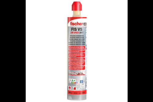 Fischer injectiemortel fis vs 300 t low speed 1 koker 300 ml, 2 x mengtuit fis mr plus