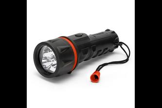 VELAMP RUBBER LED: 2D LED rubberen zaklamp