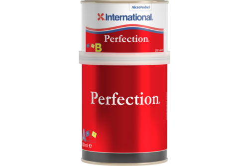 International perfection finish aflak 750 ml, jet black, blik