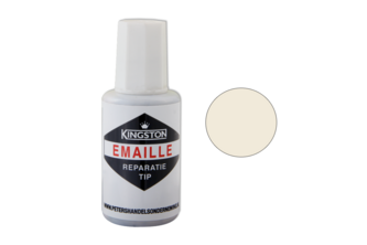 Kingston Emaille Reparatie Tip Hoogglans, 20 ML, RADIATOR WIT, 9010