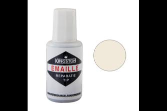 Kingston Emaille Reparatie Tip 20 ML, IVOORWIT, 9010, Flacon + kwast