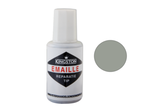 Kingston Emaille Reparatie Tip Hoogglans, 20 ML, MANHATTAN/GRIJS, RAL 7004