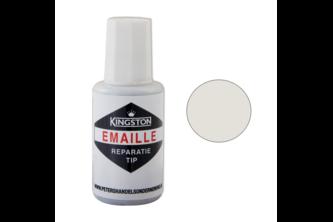 Kingston Emaille Reparatie Tip 20 ML, JASMIJN, RAL 1013, Flacon + kwast