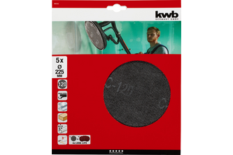 KWB Schuurschijvenset Ø225 mm K220 5-delig