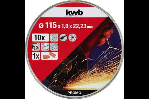 Kwb slijpschijvenset Ø125 mm 10-delig