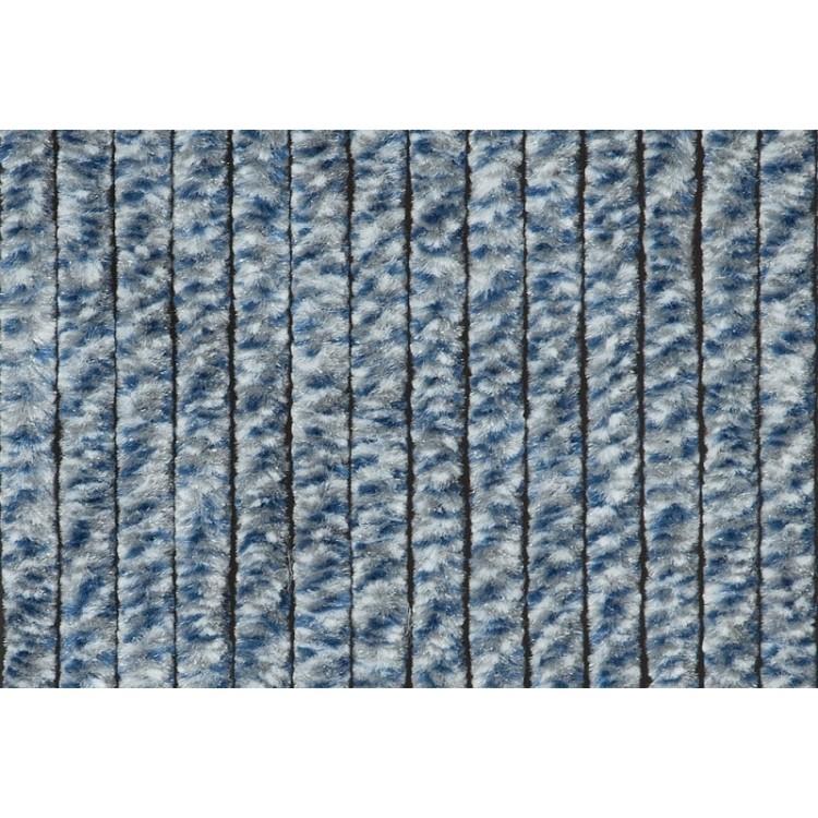 Afbeelding van Cortenda kattenstaart vliegengordijn blauw grijs wit 100 x 230 cm