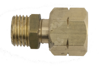Koppeling 1/4'R bu x 1/4'L wartel 1/4 inch buitendraad, 1/4 inch links wartel