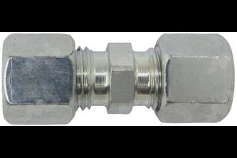 Rechte knelkoppeling verzinkt - 15 mm