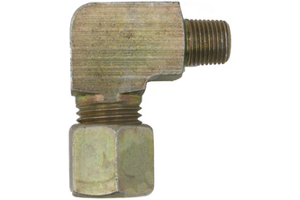 Knie knelkoppeling naar buitendraad - 10 mm, 1/4 inch buitendraad
