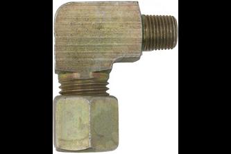 Knie knelkoppeling naar buitendraad - 10 mm, 1/4 inch buitendraad 1/4 inch buitendraad, 10 mm